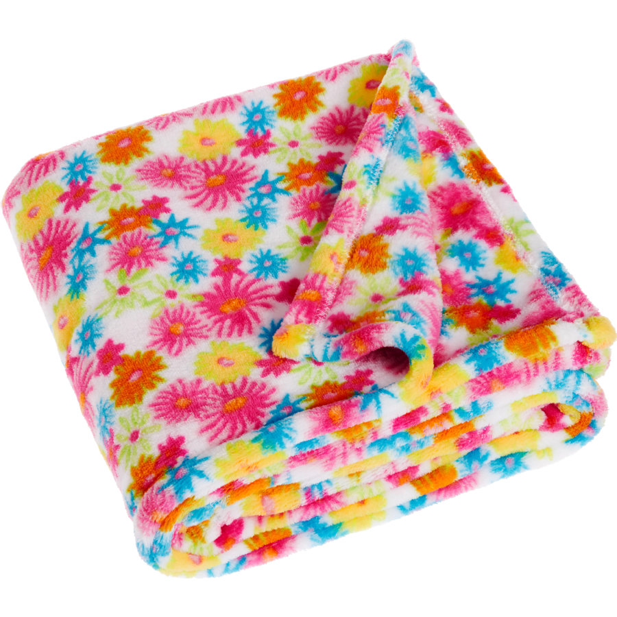 Playshoes Fleece-Decke  75x100cm Blumenmeer