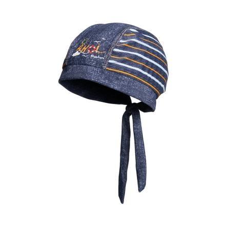 Playshoes čepice s UV ochranou Ahoj modrá
