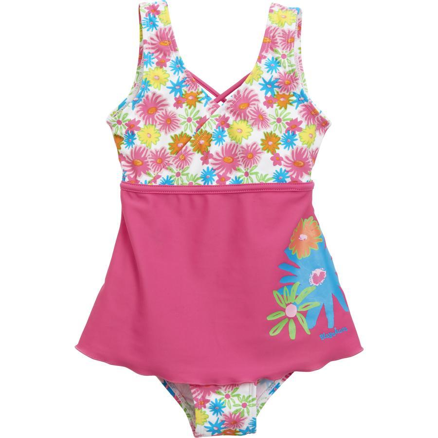 PLAYSHOES Girl s Traje de baño con protección UV Blumkenmeer con falda