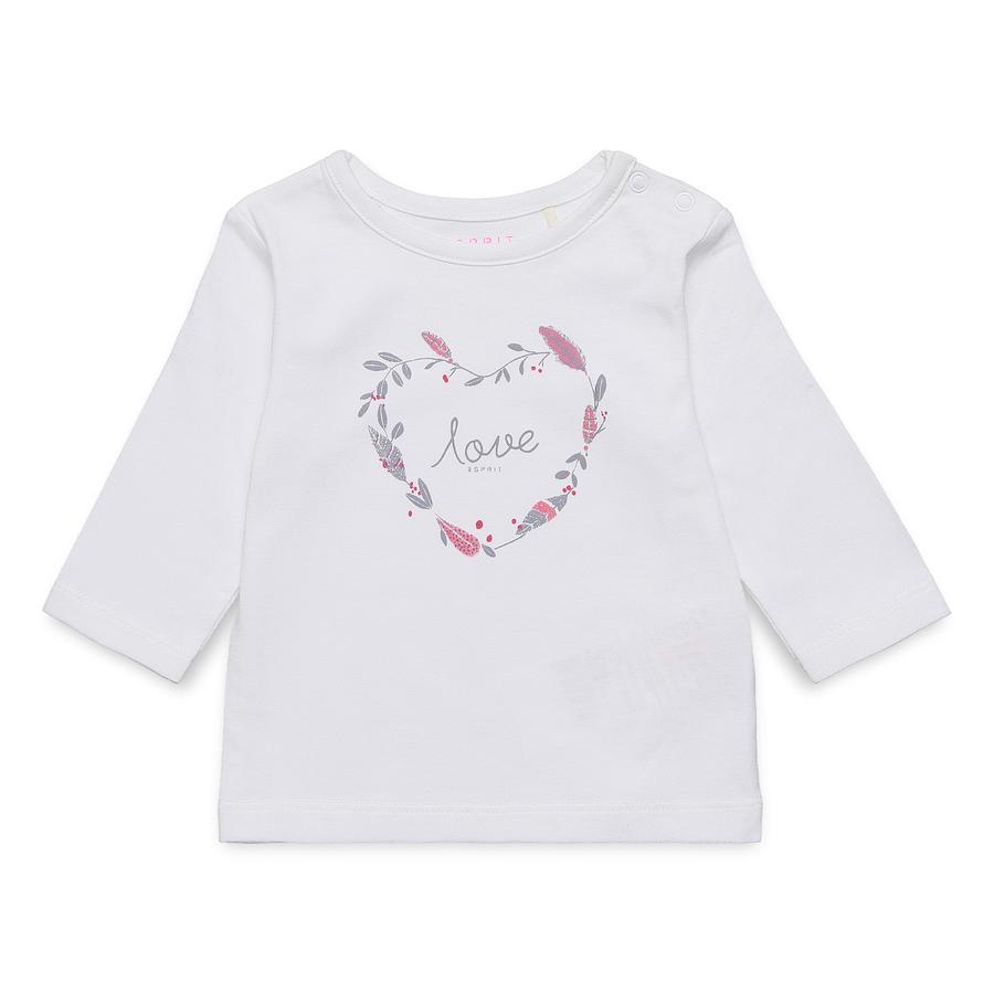 ESPRIT Shirt met lange mouwen wit