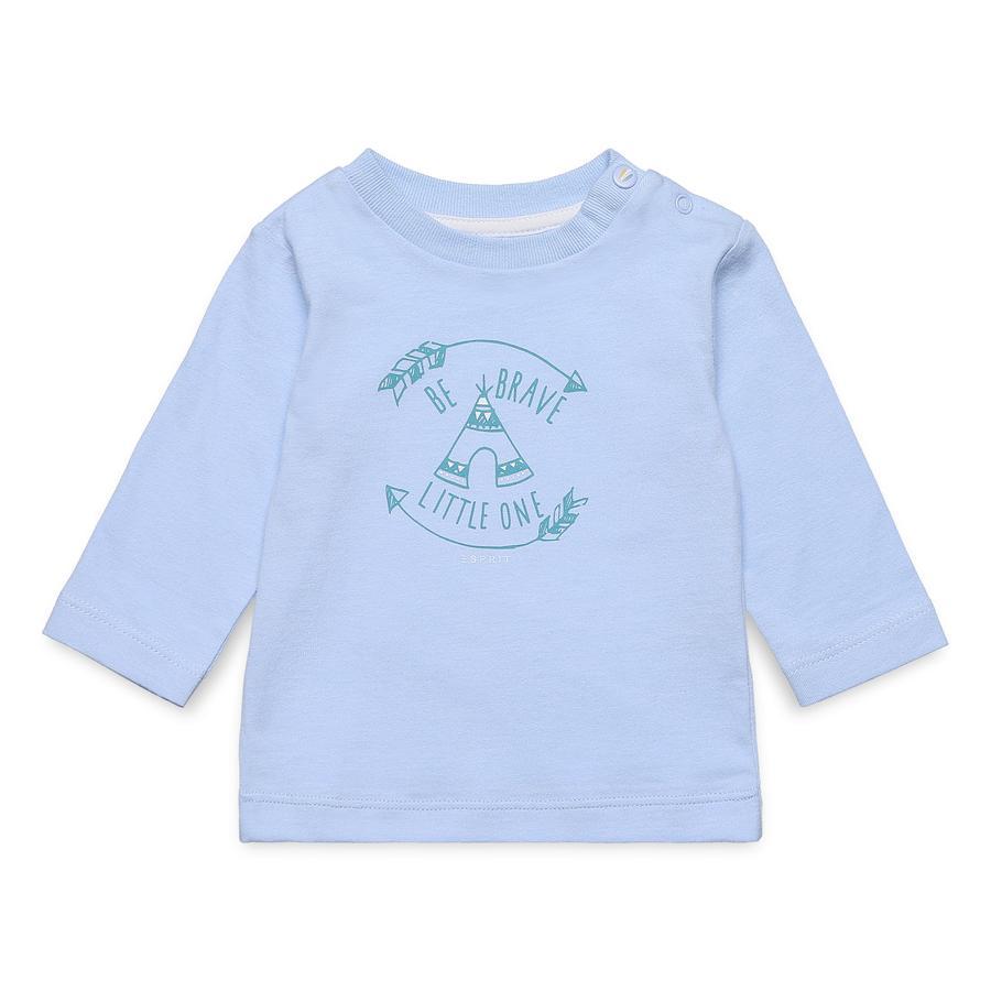 ESPRIT Pastelblauw overhemd met lange mouwen