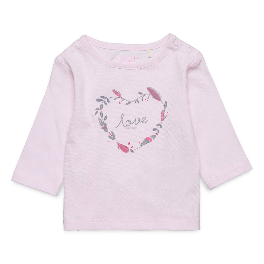 ESPRIT Langarmshirt pastel pink