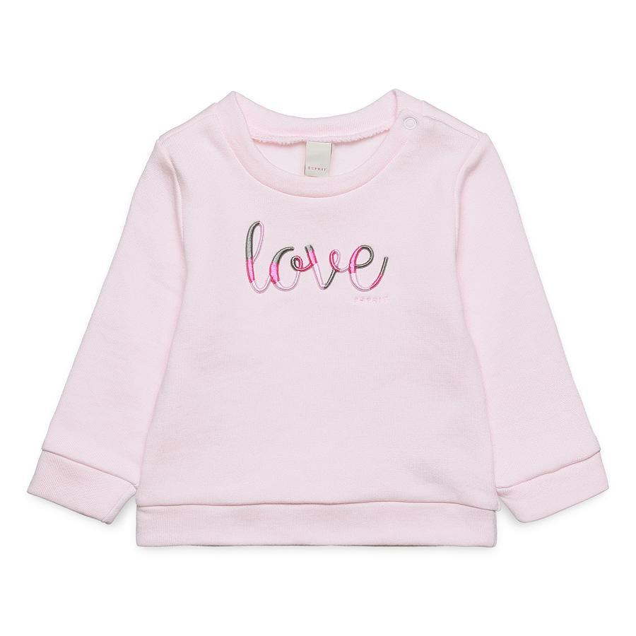 ESPRIT Bluza bluza pastelowy różowy