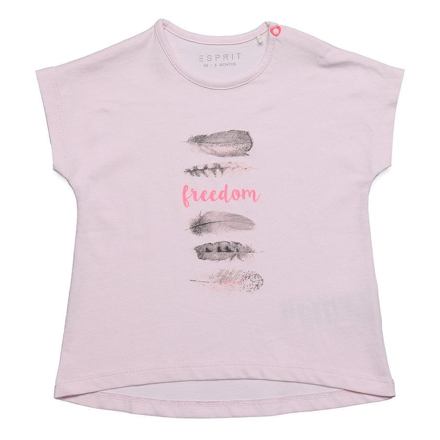 ESPRIT Tričko Flechette růžové