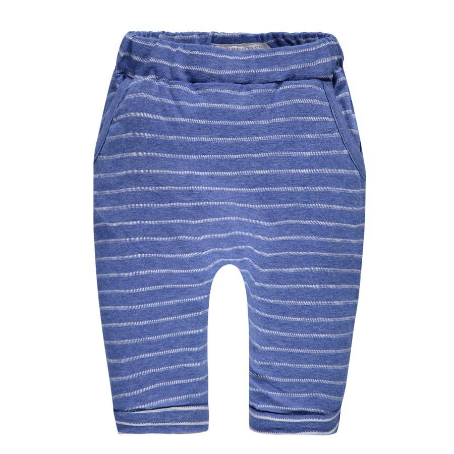 bellybutton Boys Spodnie z dresami w paski w kolorze niebieskim.