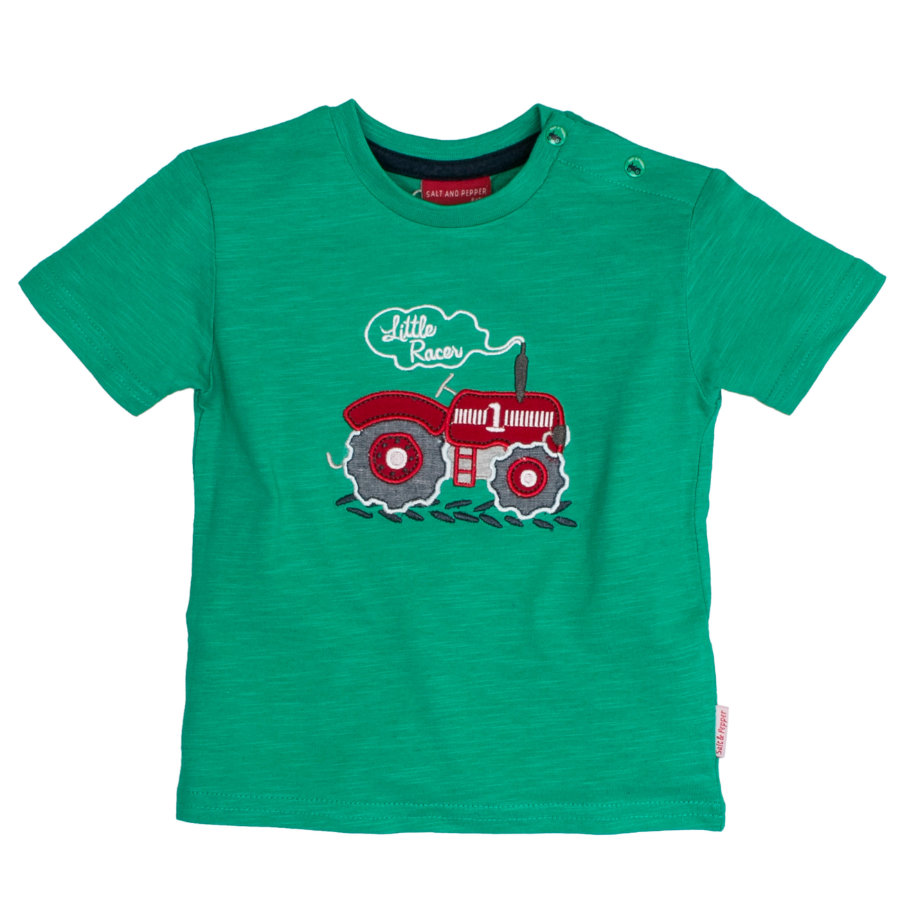 SALT AND PEPPER Boys T-Shirt Traktor green
