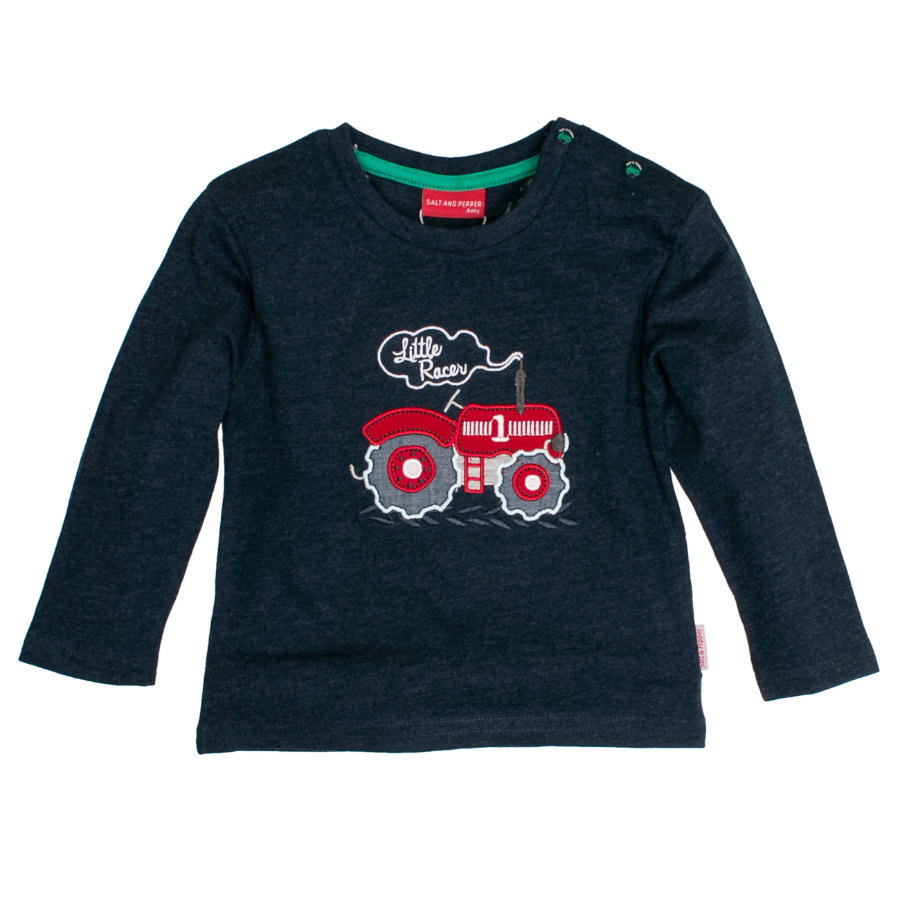 SALT AND PEPPER Boys Longsleeve Traktor denim blue