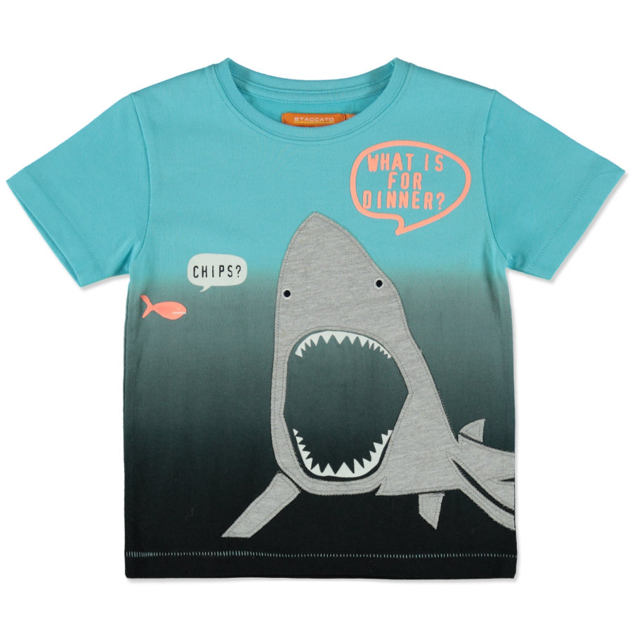 STACCATO Boys T-Shirt aqua dark tinte