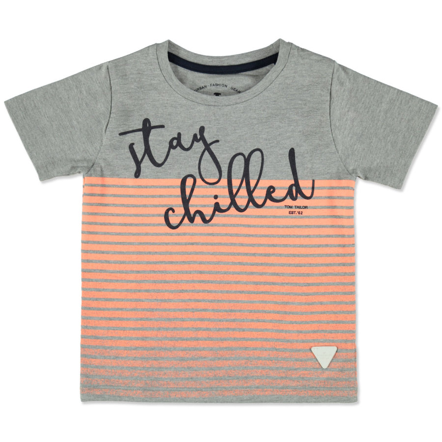 TOM TAILOR Boys T-Shirt melange średnioszary