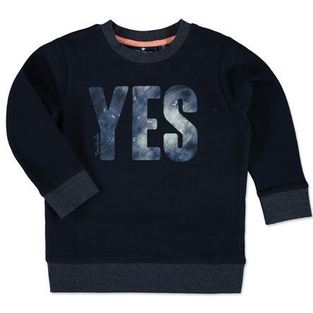 TOM TAILOR Boys Sweatshirt bleu marine véritable