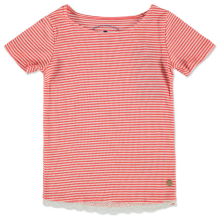 TOM TAILOR Girls T-Shirt plain red gestreift