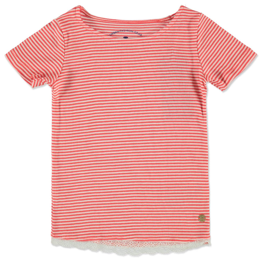 TOM TAILOR Girl s T-Shirt effen rood gestreept