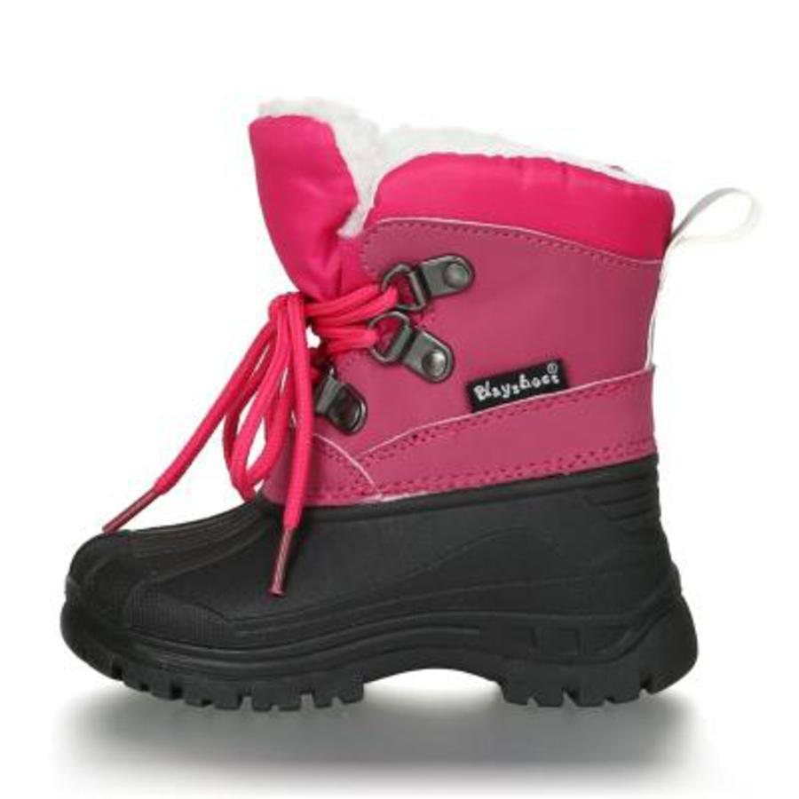 Playshoes Bottes enfant lacet rose