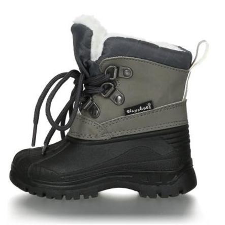 Playshoes Winter-Bootie zum Schnüren grau