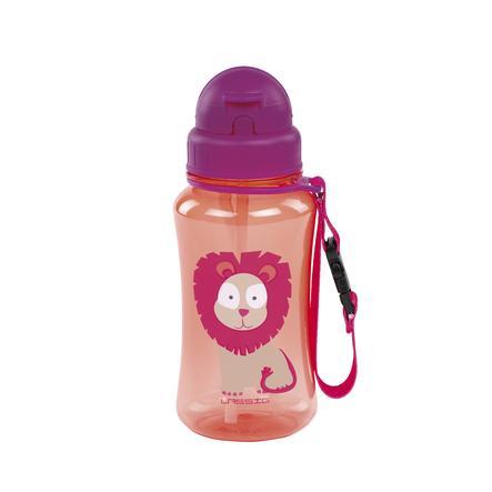 LÄSSIG Trinkflasche Wildlife Lion rot ab dem 18. Monat