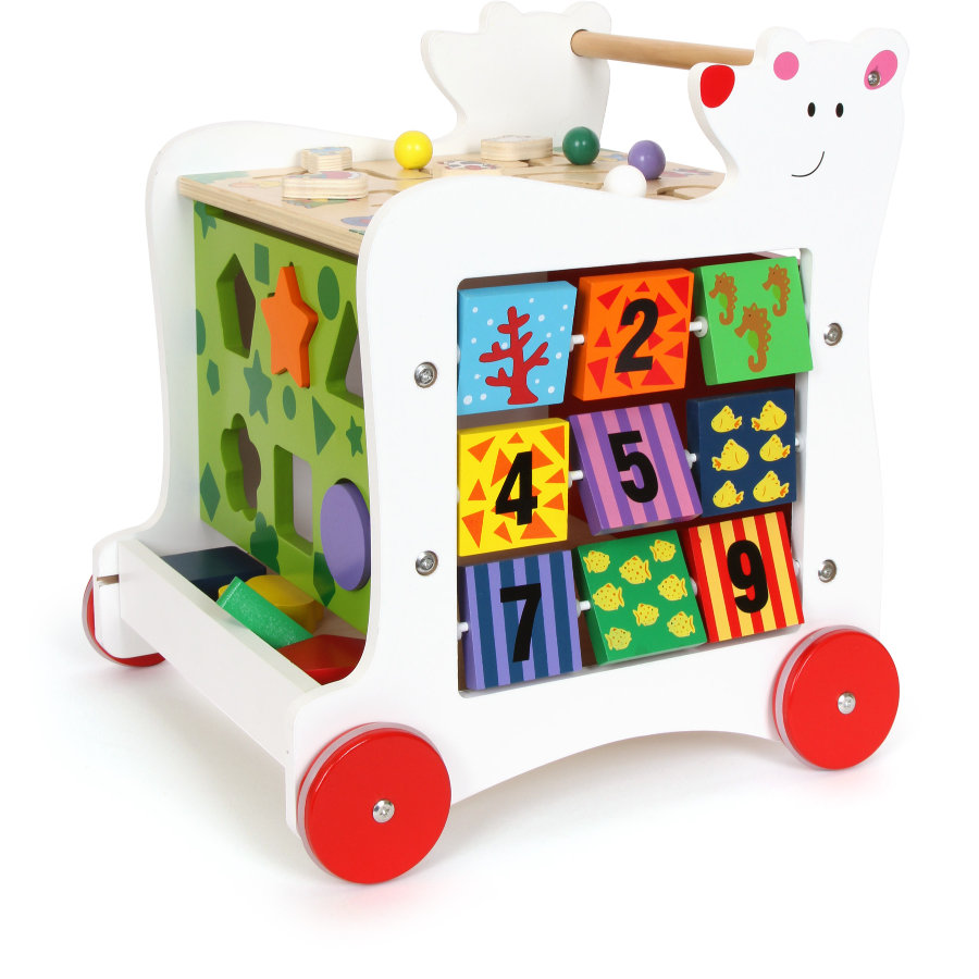 small foot® Chariot enfant cubes ours bois 7393