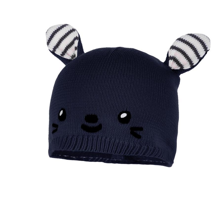 maximo Mütze kleiner Hase dunkelmarine-wollweiß