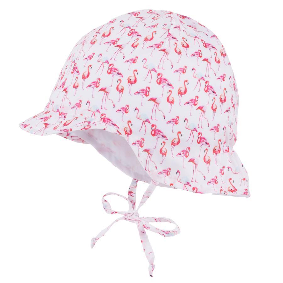 maximo Girls Schildmütze Flamingo weiß-begonie