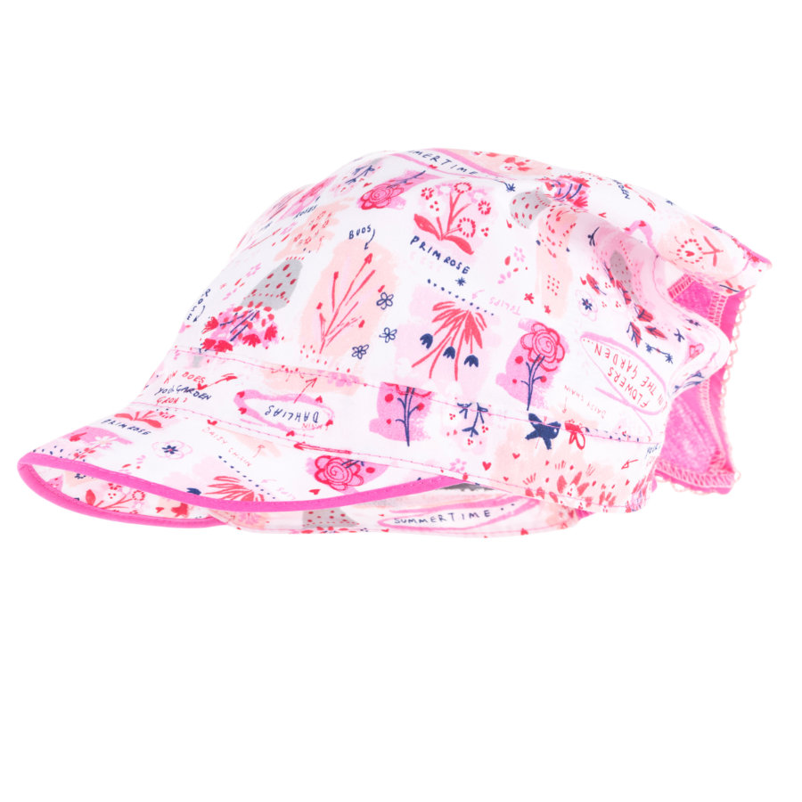 maximo Girls Kopftuch Schild weiß-rosa