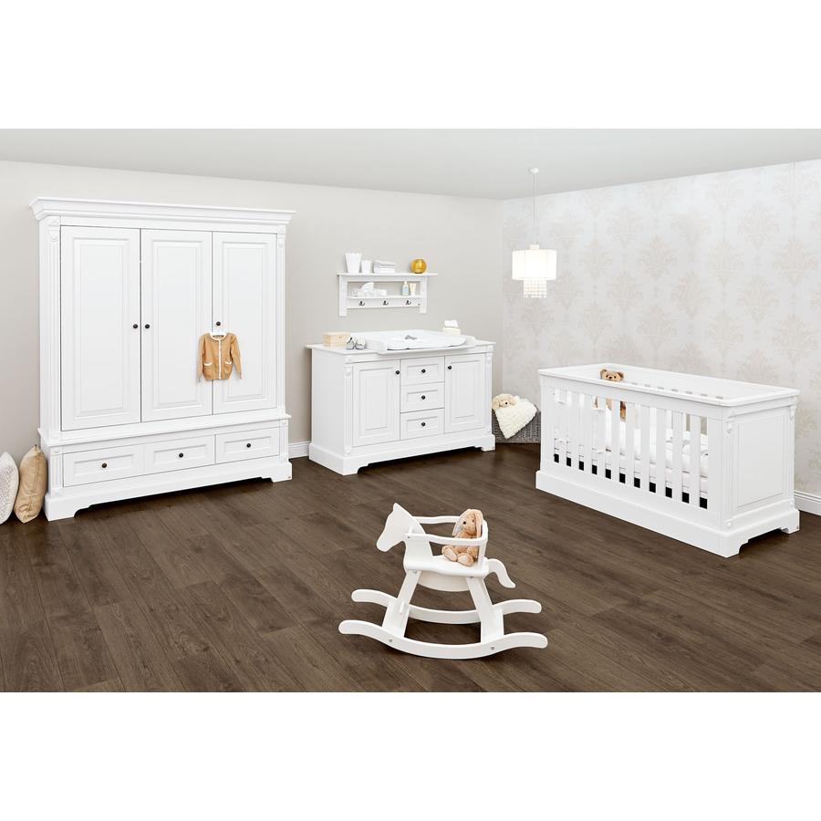 Pinolino Cameretta neonato Emilia, extra ampia, con armadio a 3-ante