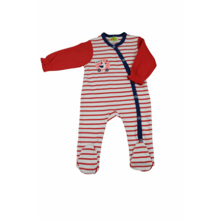 DIMO Boys Overall ringel rot/weiß