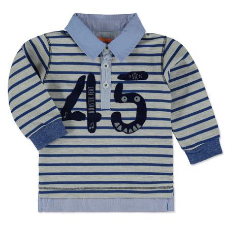 STACCATO Boys Shirt grey melange Streifen
