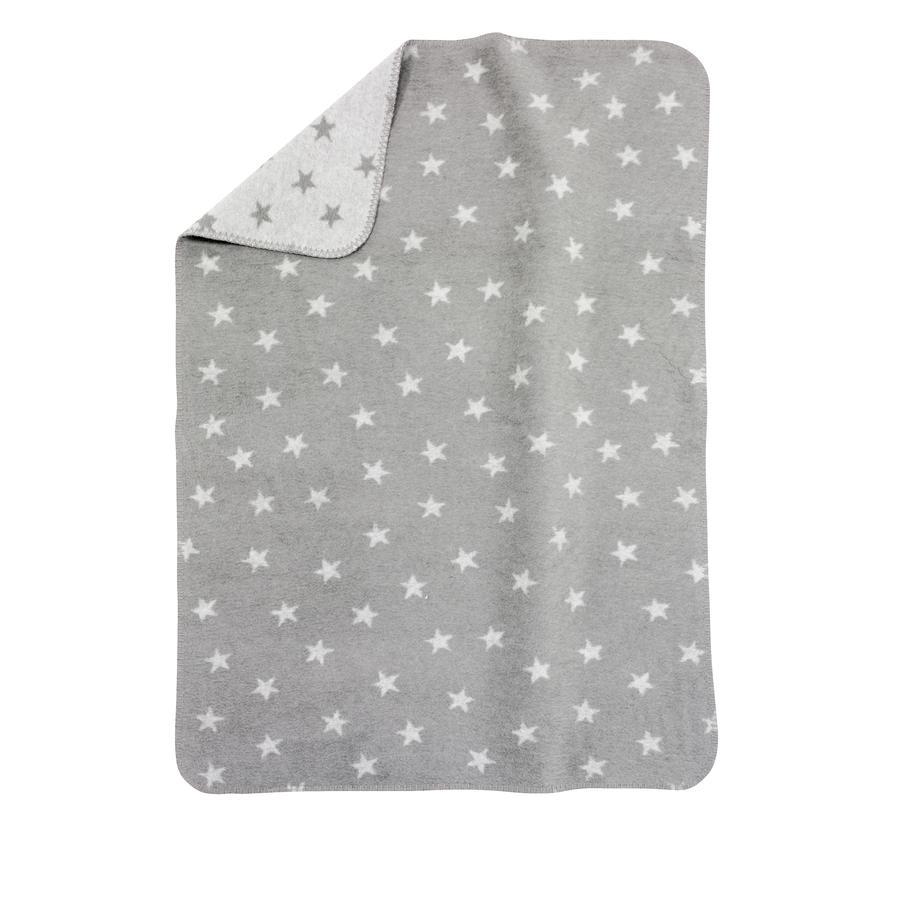 ALVI Babydeken Katoen sterren grijs