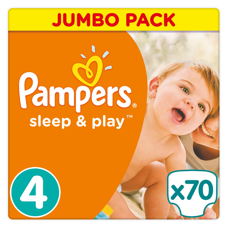 Pampers Bleer Sleep & Play str. 4 Jumbo Pack 8 - 16 kg 70 stk.