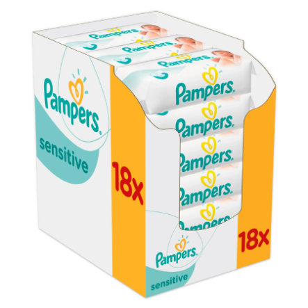 PAMPERS Lingettes SENSITIVE New Baby Pack avantages, 1008 pièces