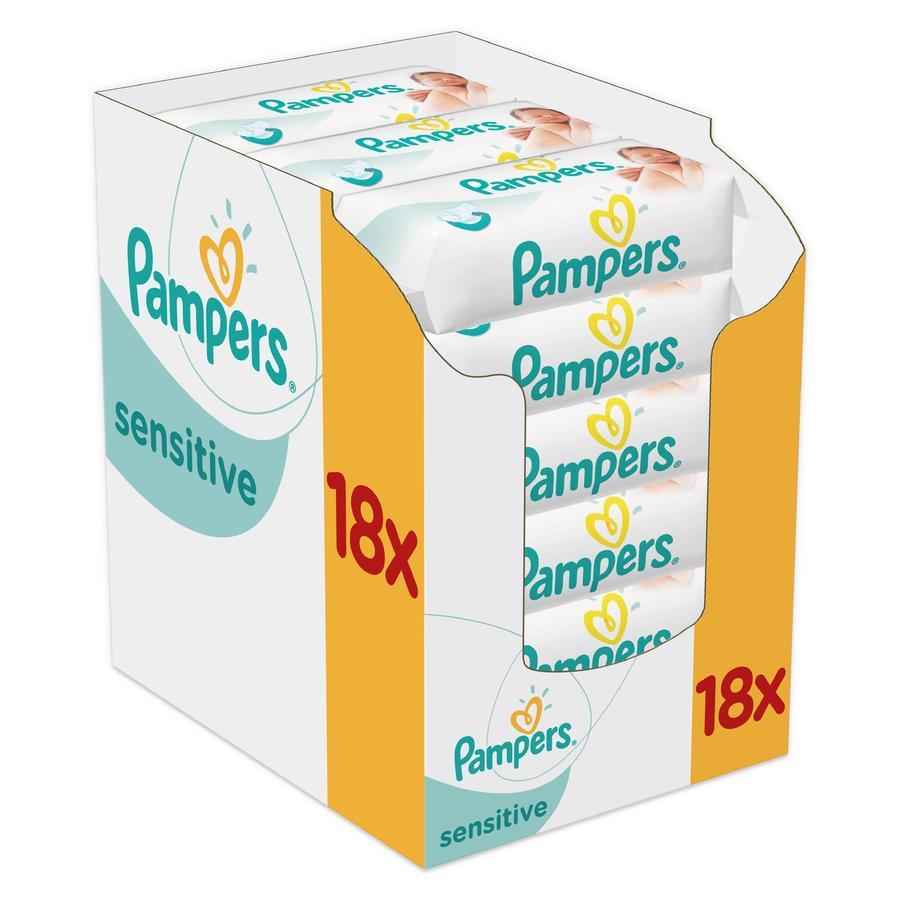 PAMPERS Vochtige doekjes SENSITIVE New Baby Giga voordeelpack 1008 stuks