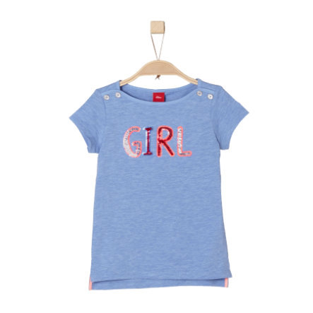 s.Oliver Girls T-Shirt blue melange