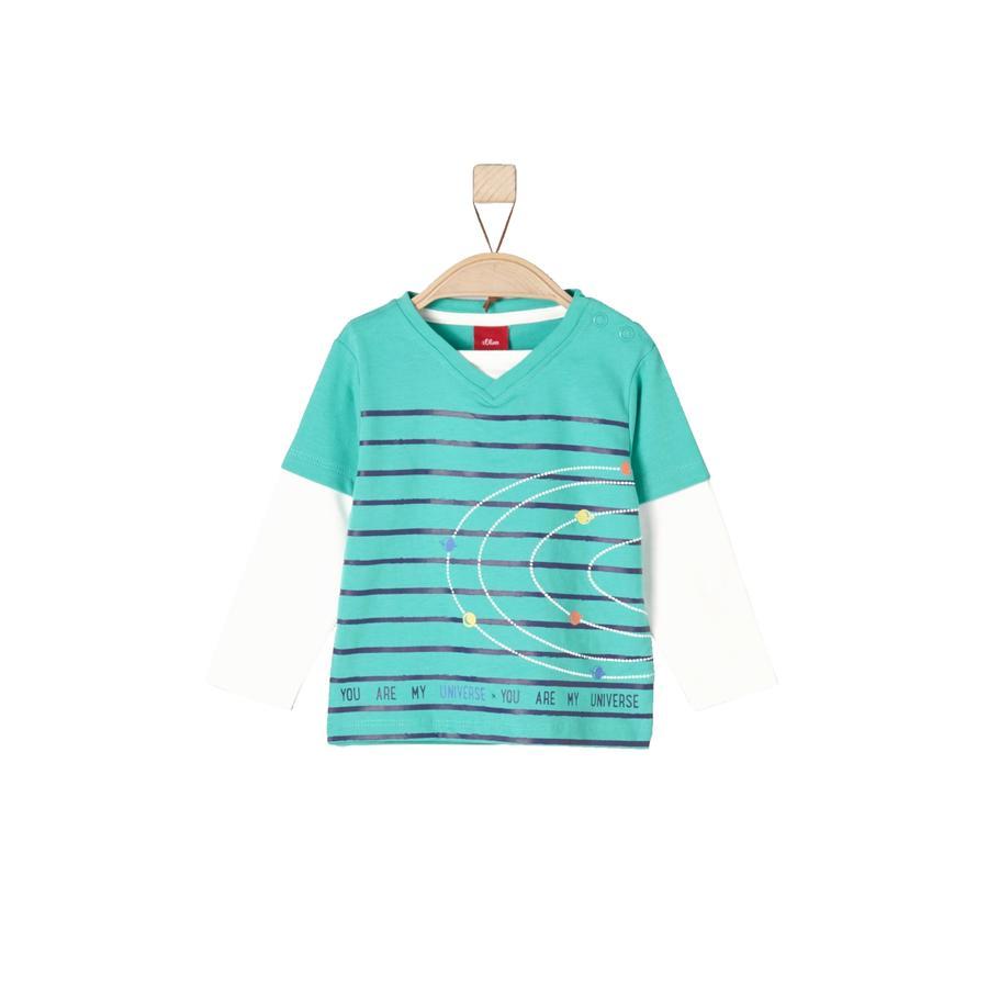 s.Oliver Longsleeve turquoise