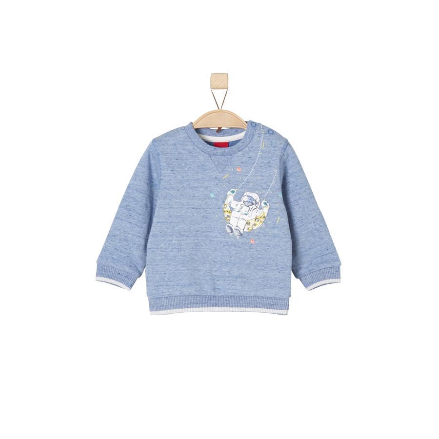 s.Oliver Sweatshirt blauw melange