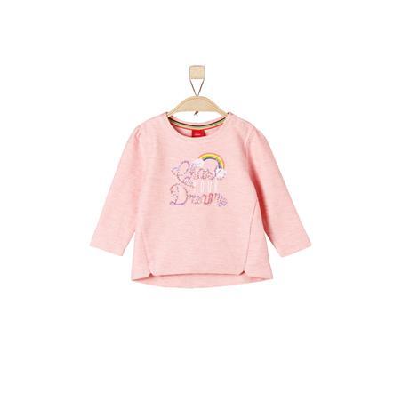 s.Oliver Sweatshirt licht roze melange