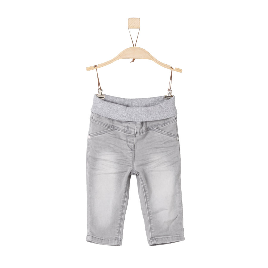 s.Oliver Hose grey denim stretch