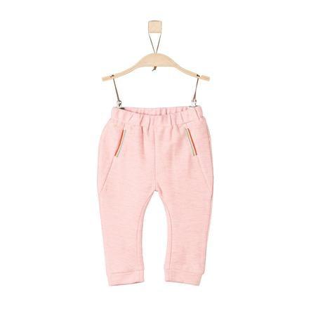 s.Oliver pantalon de jogging rose pâle melange