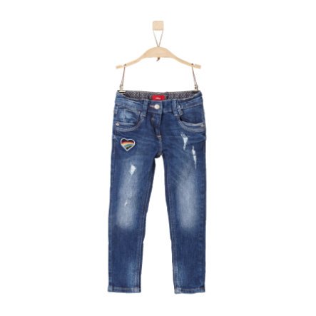 s.Oliver Byxor blue denim stretch