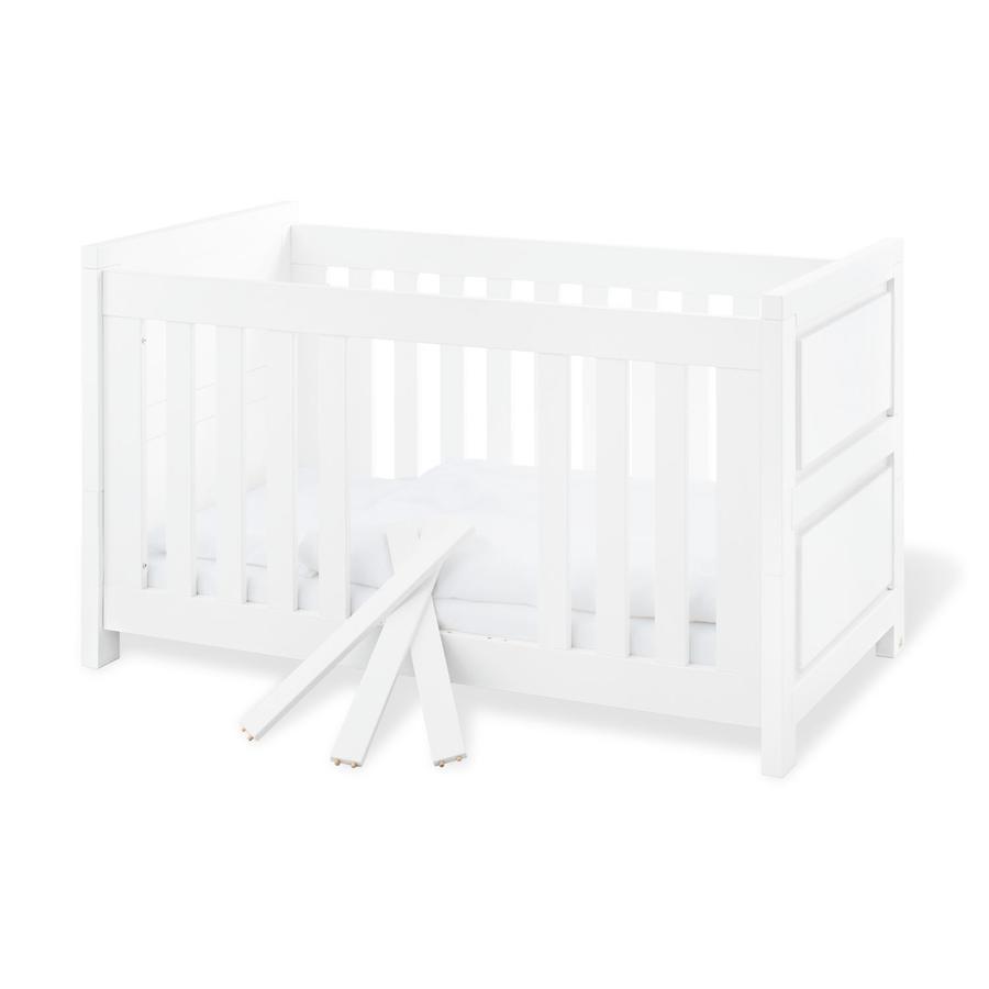 Pinolino Lit enfant à barreaux Milk bois blanc 170x40 cm