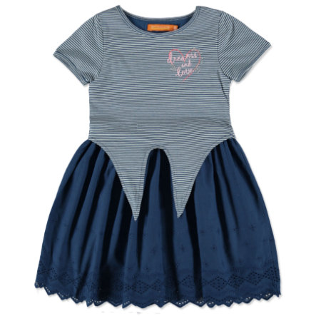 STACCATO Girl s robe jeans rayures bleues