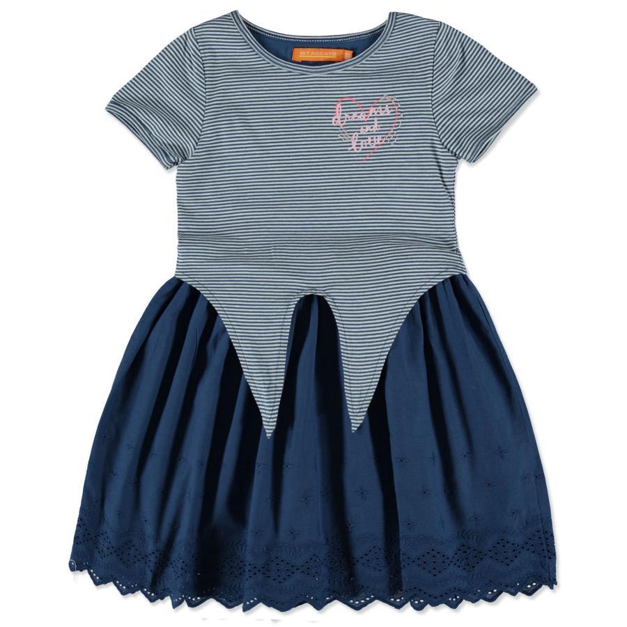 STACCATO Girls Kleid jeansblue Streifen