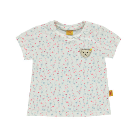 Steiff Girls T-Shirt flowers white