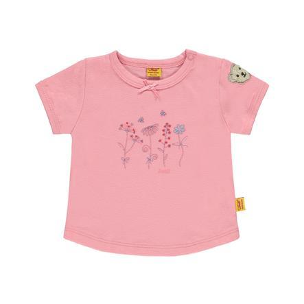 Steiff Girls Bluzka z krótkim rekawkiem pink icing