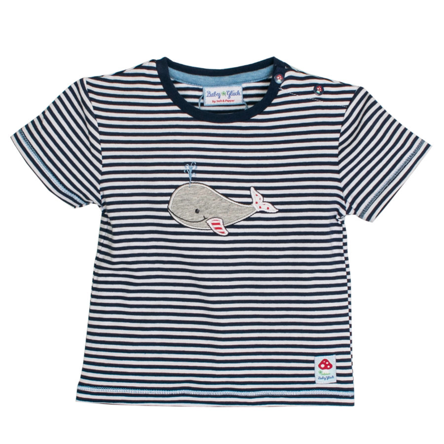 SALT AND PEPPER baby-gelukwalvis Boys T-Shirt marineblauw