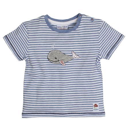 SALT AND PEPPER Baby Glück Boys Bluzka z krótkim rękawkiem Walfisch indigo blue