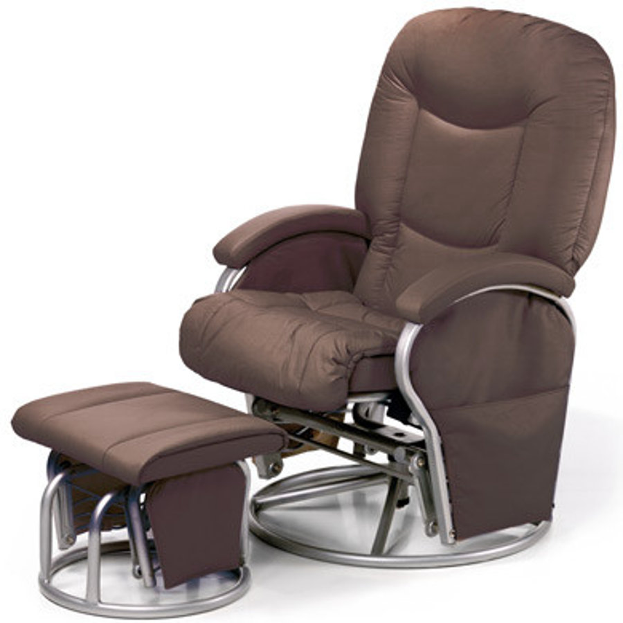 hauck stillsessel metal glider inklusive hocker brown. Black Bedroom Furniture Sets. Home Design Ideas