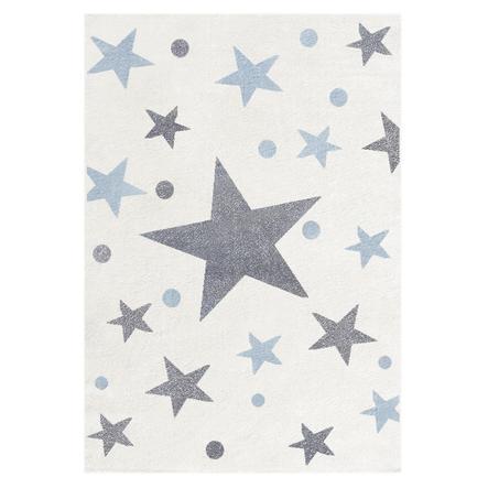 Livone Tapis Enfant Happy Rugs Stars Creme Gris Bleu 120 X 180 Cm