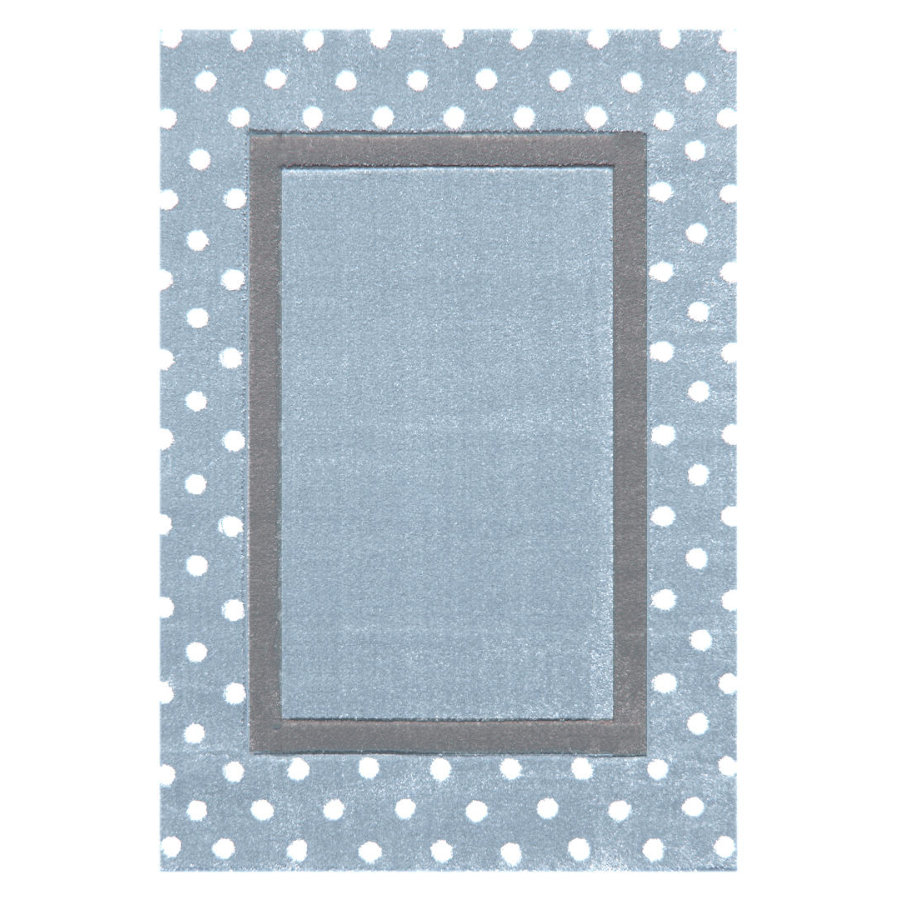 LIVONE Kinderteppich Happy Rugs Point blau/silbergrau 120 x 180 cm