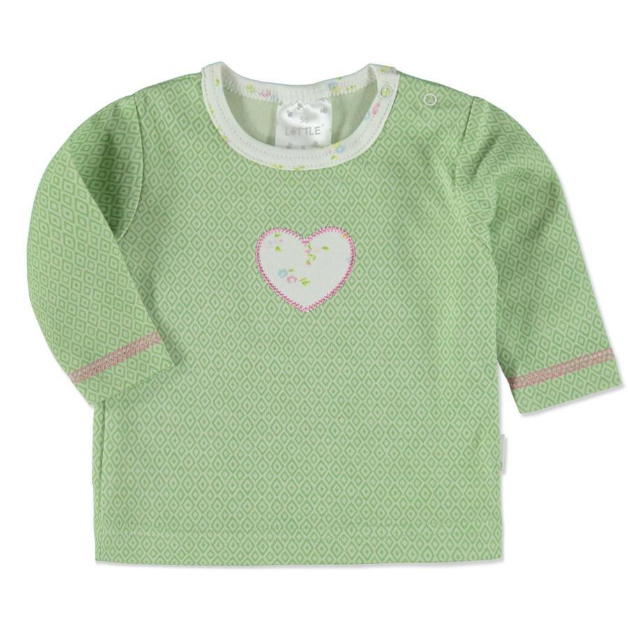 LITTLE Shirt Retro grün Herz