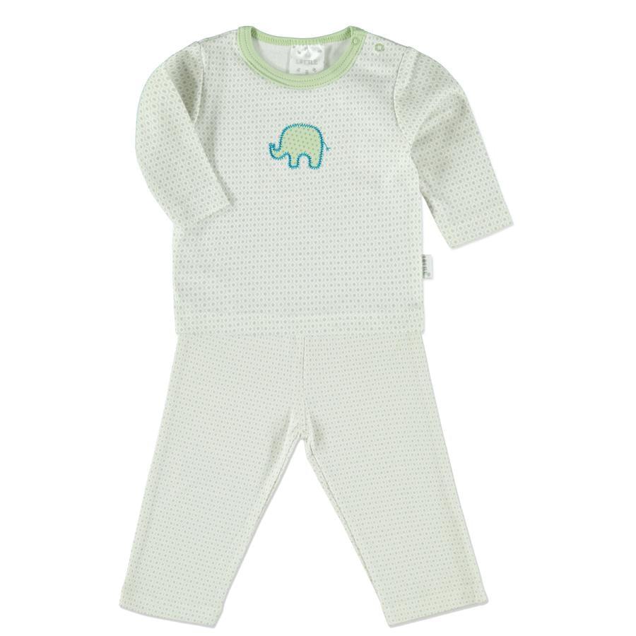LITTLE Schlafanzug Retro grau Elefant