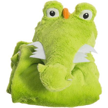 bieco Couverture doudou d'éveil crocodile